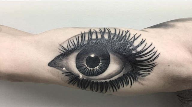 Black and Grey Realistic Eye Tattoo by Ashley Shafer at Certified Tattoo Studios Denver CO.jpg