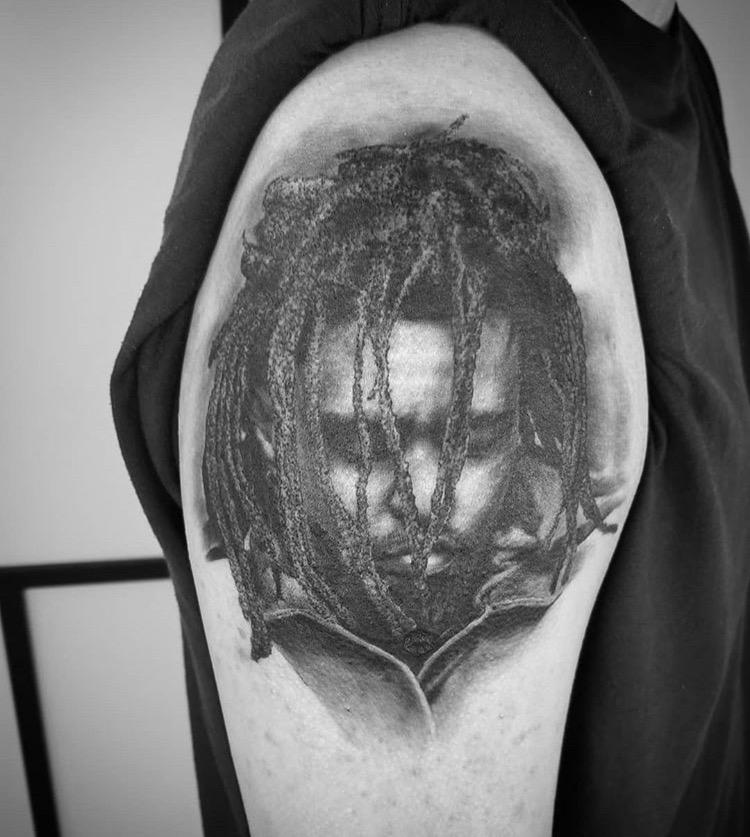 Custom JCole Portrait Tattoo by ALix Scheidt at Certified Tattoo Studios Denver ACo (3).JPG