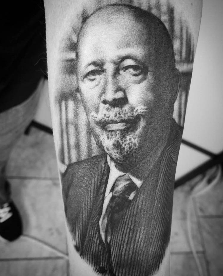 Custom WEB Du Bois Portrait Tattoo by ALix Scheidt at Certified Tattoo Studios Denver ACo (4).JPG