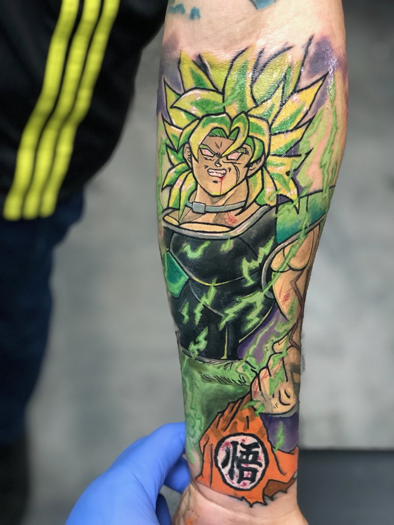 Custom Full Color Anime Style Dragon Ball Z Broly Tattoo by Grime2 at Certified Tattoo Studios Denver Co.JPG