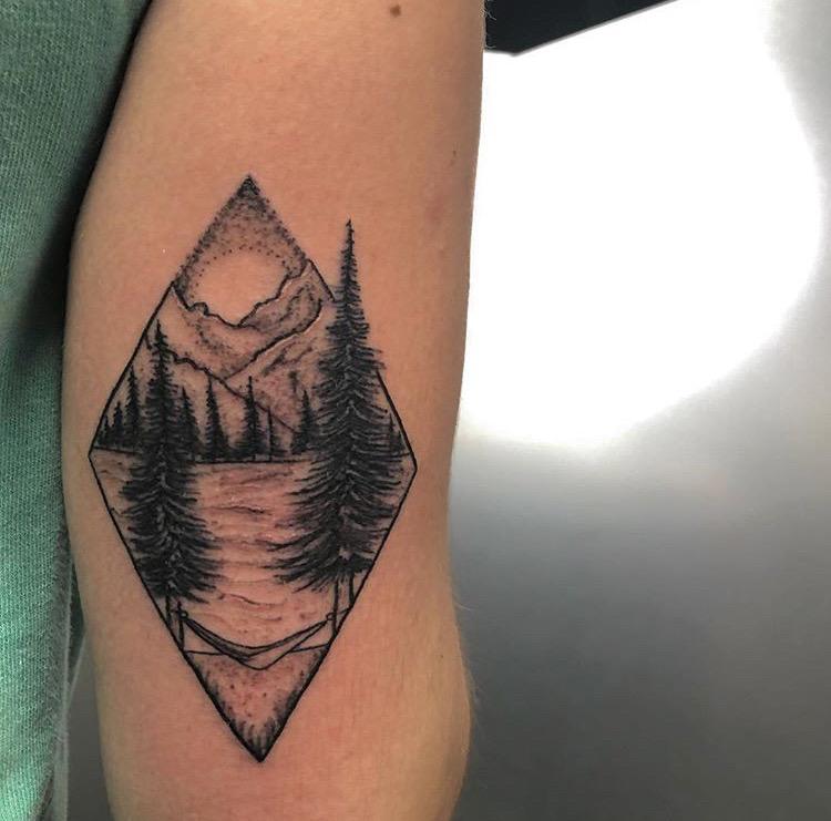 Custom Black and Grey Mountain Range Tattoo by Meikel Castellon at Certified Tattoo Studios Denver Co   (5).JPG