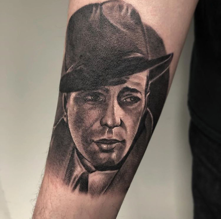 Custom Black and Grey Rick Blaine Tattoo vy Ramon Marquez at Certified Tattoo Studios Denver zco.JPG