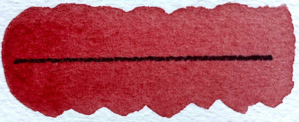 Mayan Red - PR287, transparent, excellent lightfastness, moderately staining