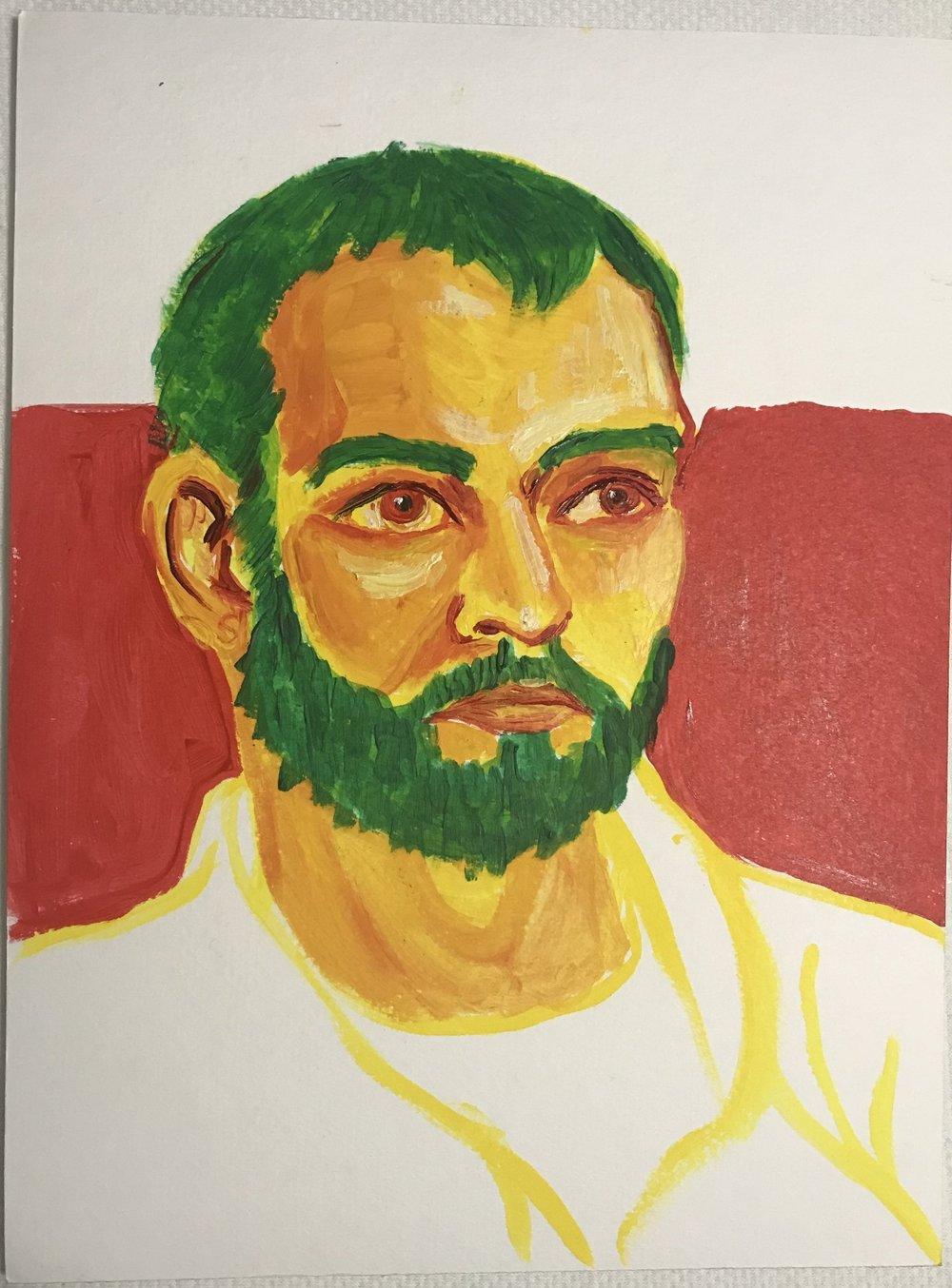Ian, open acrylic on canvas pad