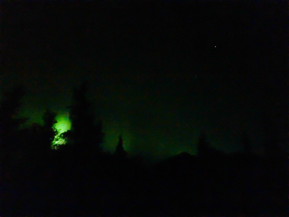 rare iPhone capture of the northern lights