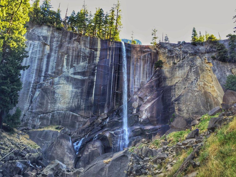 vernal falls is a little light