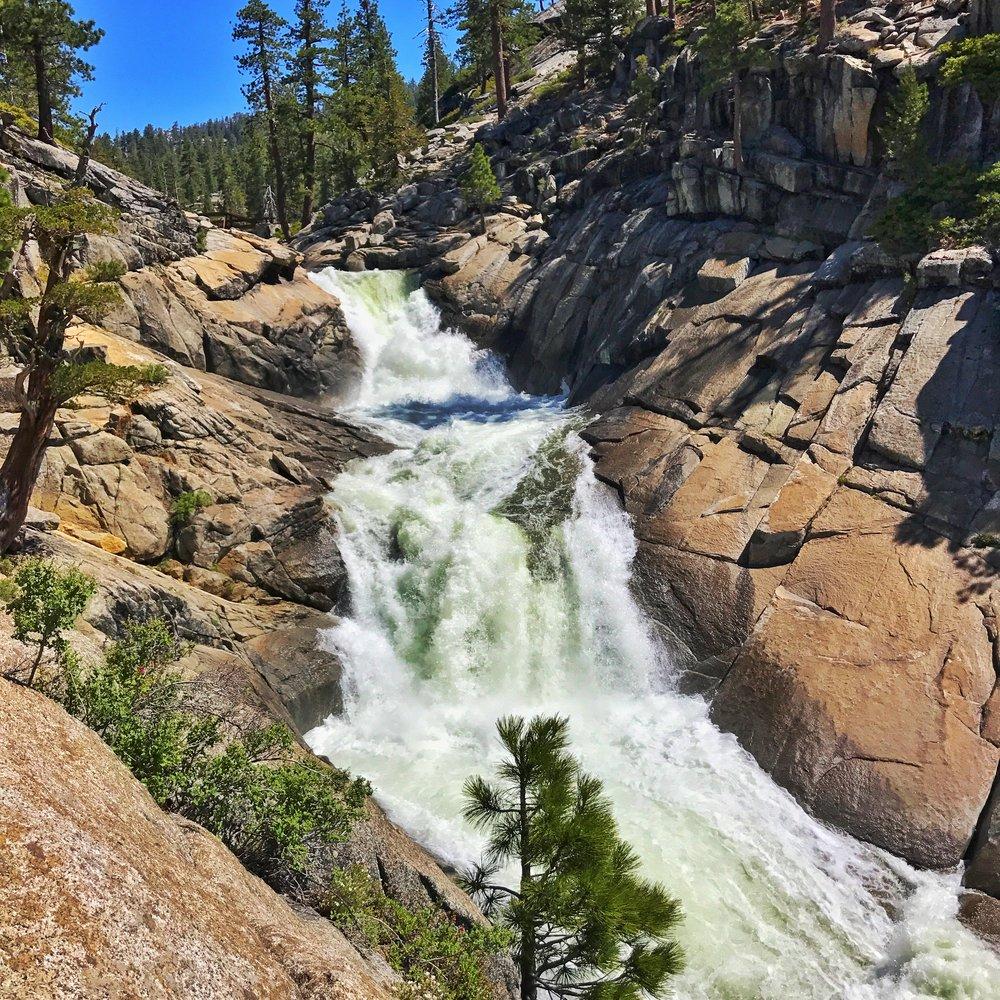 the falls in full flow