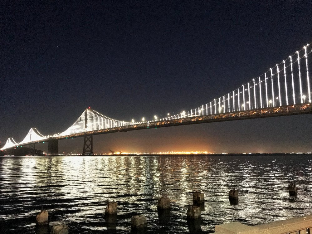 the bay bridge lights