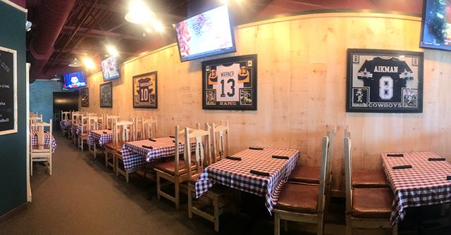 The Quarterback Club in the Riverfront Commons in Putnam is officially OPEN! Same great NY style pizza, everything else... Upgraded! New food menu and liquor selection, 12 beers on tap, delicious specialty cocktails and any game you want on one of our big screen TVs! Come check us out!  Catch the game. Have a drink. We'll be here. 🏈🍕🍺🍹