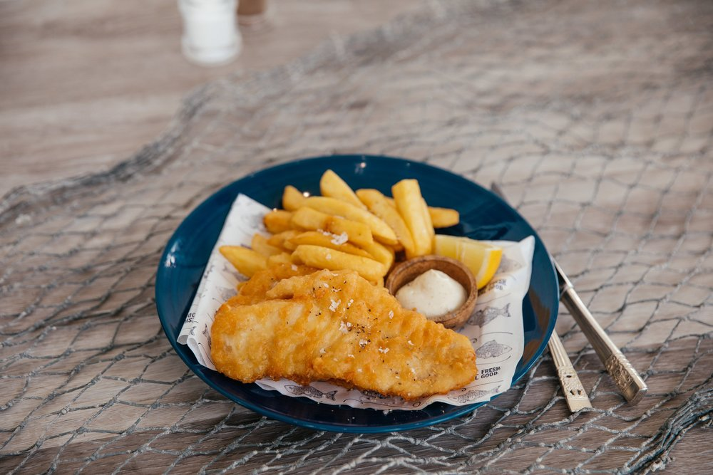 Single WA Mackerel with chips and a dipping sauce$12.90 orFamily WA Mackerel with chips and 3 dipping sauces $44.90  - Availability: Lunch & Dinner