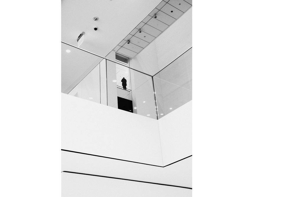 Man at the Top of MoMA , 2018
