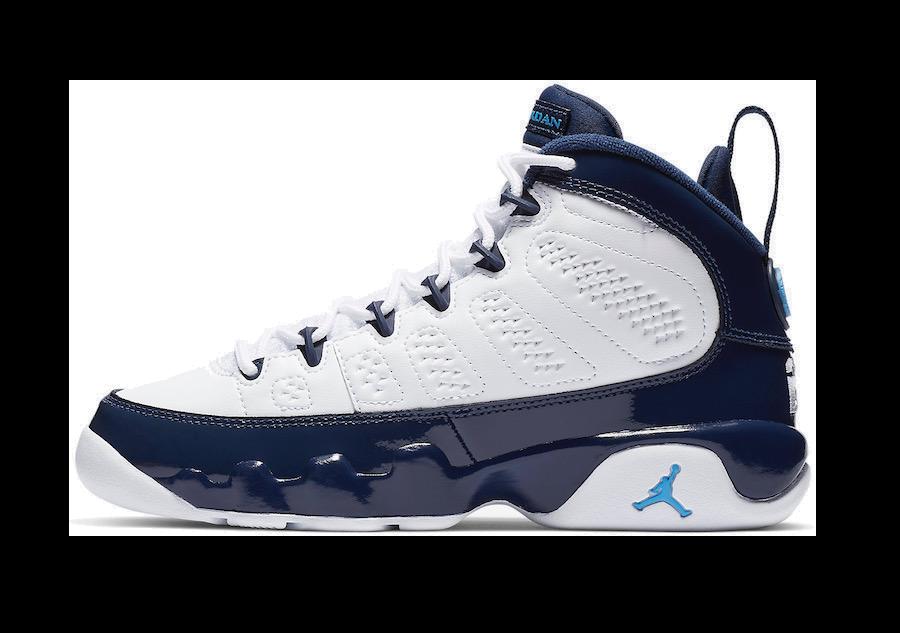 ba3fd5606bf0f9 Air Jordan 9 Retro -Men-  University Blue