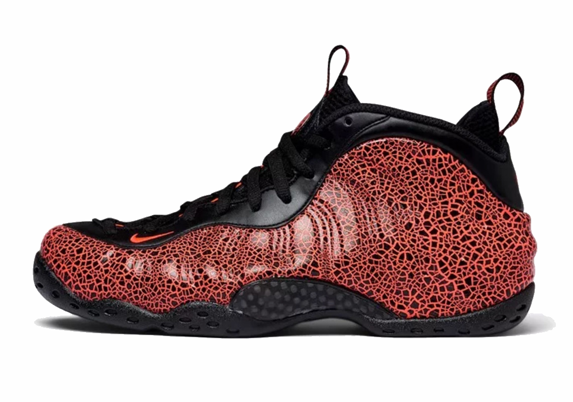 Air Foamposite One AllOver Swoosh BlackBuy The Sneaker
