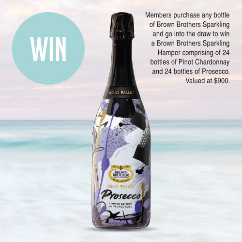 Brown Brothers King Valley Prosecco 2 for $30