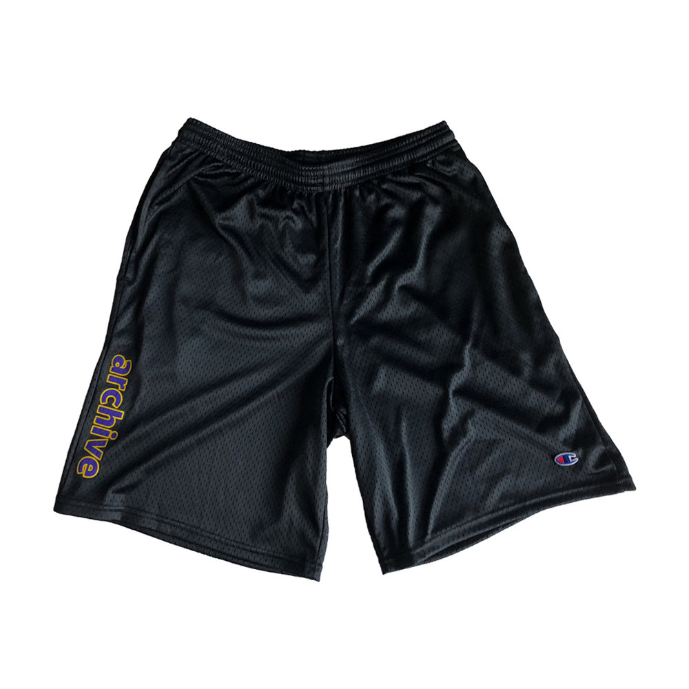 CHAMPION TB SHORT - BLACK  PRINTED ON 9' CHAMPION SHORT  PRINTED IN LOS ANGELES, CA