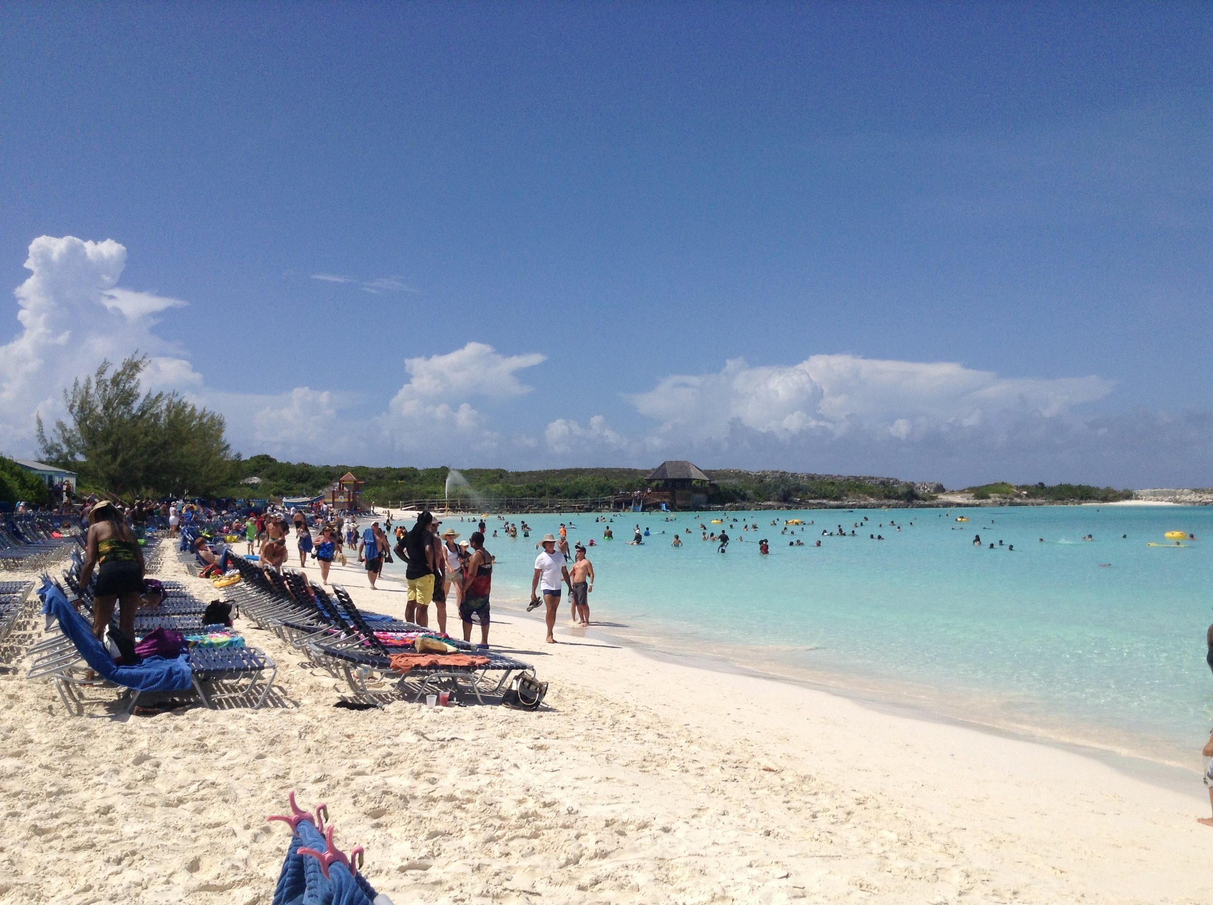 My favourite destination on our cruise: Half Moon Cay, Bahamas