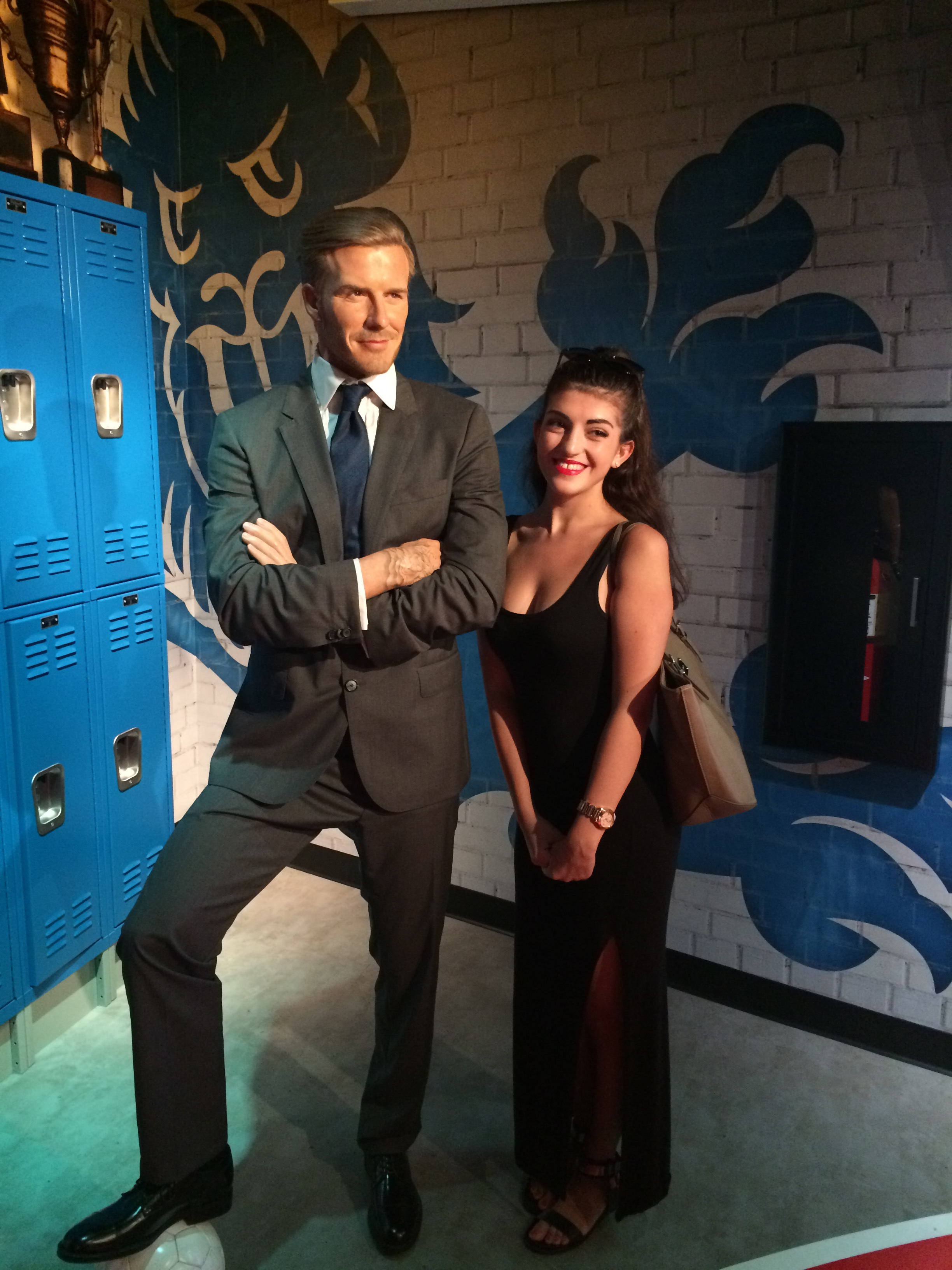 At Madame Tussauds Orlando, I got to take a photo with (a wax figure of) my all-time celebrity crush, Mr. David Beckham