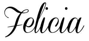 Blog - Felicia signature