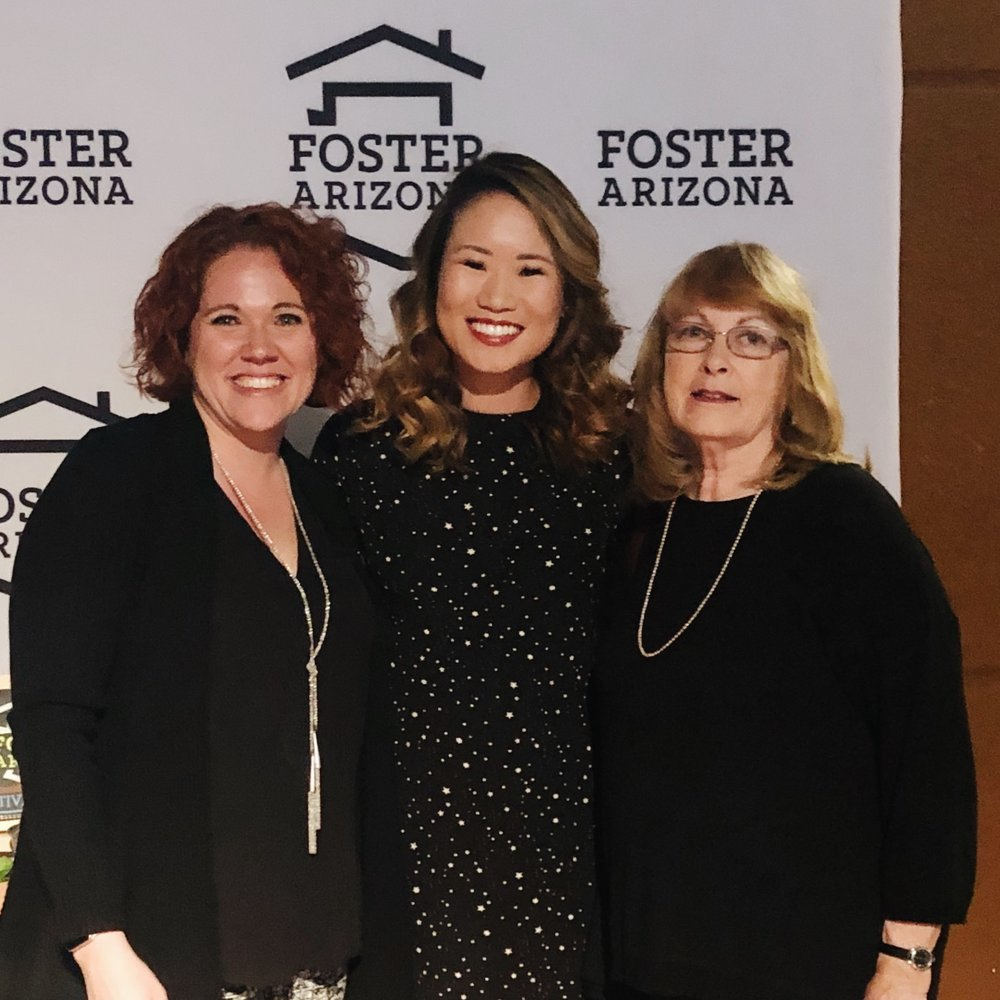 Kim (on the left), CEO & Founder of Foster Arizona — SUCH AN AMAZING WOMAN!