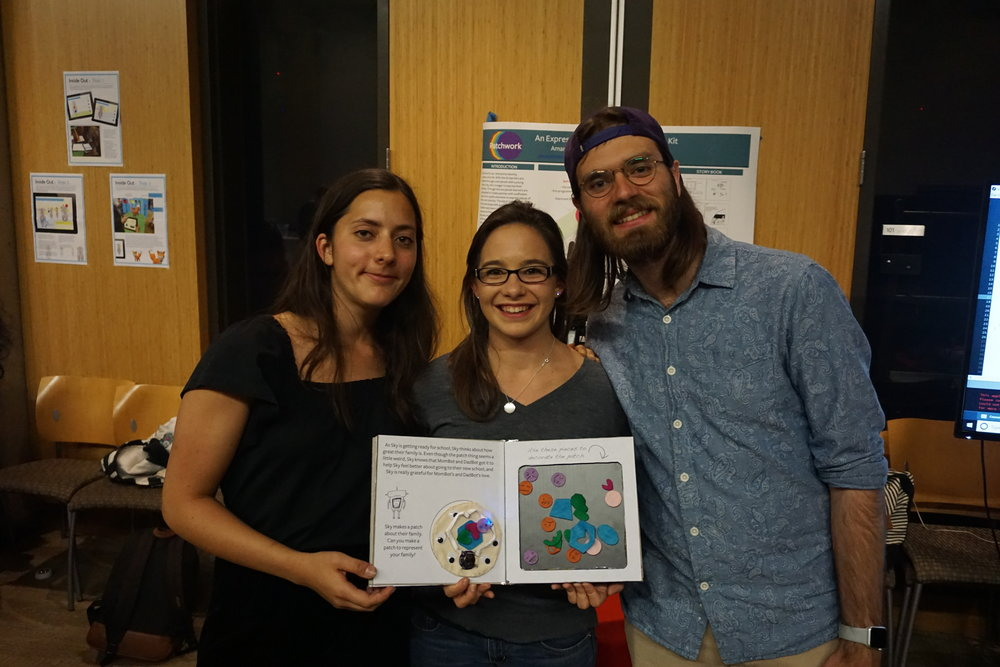 Our Team - Eileen and Amanda met at Stanford while taking a course out of the School of Education called Beyond Bits and Atoms. They joined forces for the final project on a 3 person team over a common interest of helping children explore their identity and self-expression through crafting. Their final project took form as the first iteration of Patchwork, which was accepted and demoed at the 2018 Interaction Design and Children Conference in Norway.After Beyond Bits and Atoms, Eileen and Amanda continued on, driven by the desire to create experiences that empower and enable others to create.Learn more
