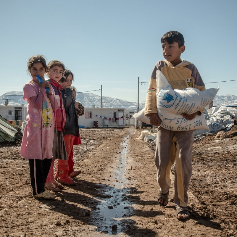 Displaced children in Iraq.  Source: OCHA/Bahaa Elias.
