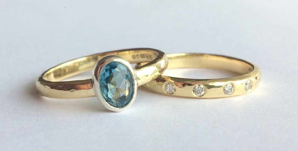 Engagement Ring and Wedding Band Remodelling & Reimagining as a very special Anniversary Celebration