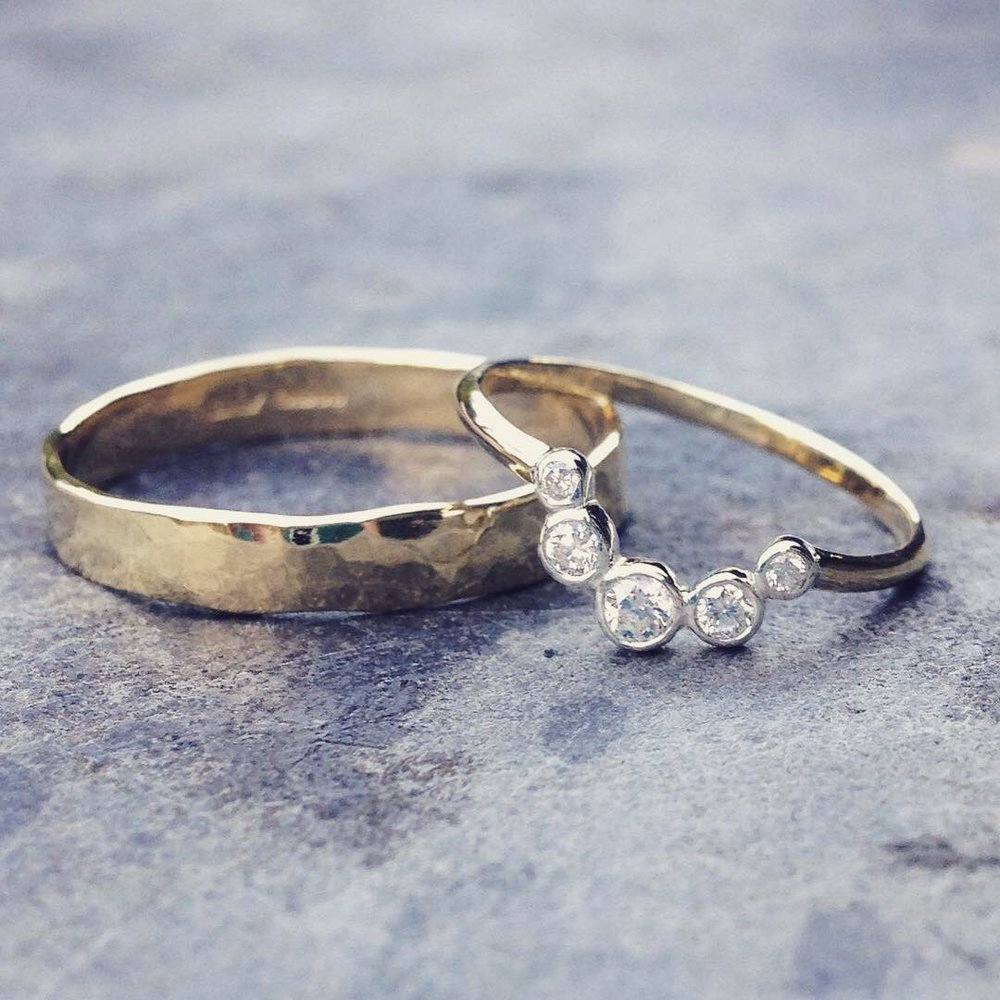 9a72ffc9e Bespoke Recycled Gold and Ethically Sourced Diamond Wedding Bands for Ian  and Sian