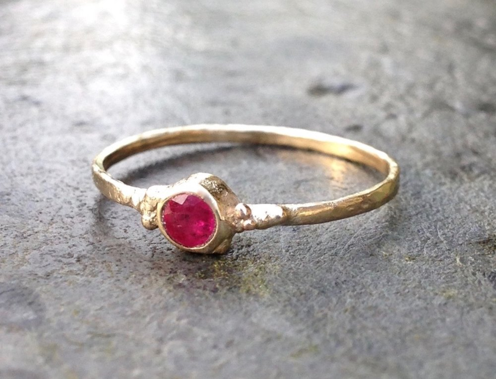 Nina's Ethical Ruby and Recycled Gold Engagement Ring