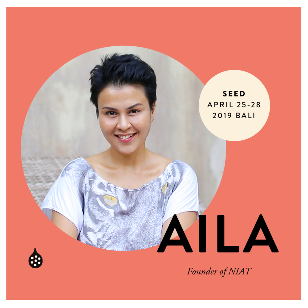 Aila is a marketing and communications specialist with 20 years of advertising and corporate experience working with top international agencies and brands. As the founder of NIAT, she wields her sharp insights on strategic business development across design, branding and property retail marketing. Based in Bali, Aila is also the force behind NIAT Living, a movement that advocates an intentional business approach through conscious lifestyle and wellbeing applications. For many it's the first step on the path of self-discovery and mindful living.   niatliving.com    niatconsulting.com    ailanordin.com