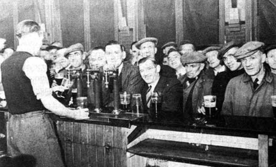 Free beer at the Dean on the night of the 29th October 1949
