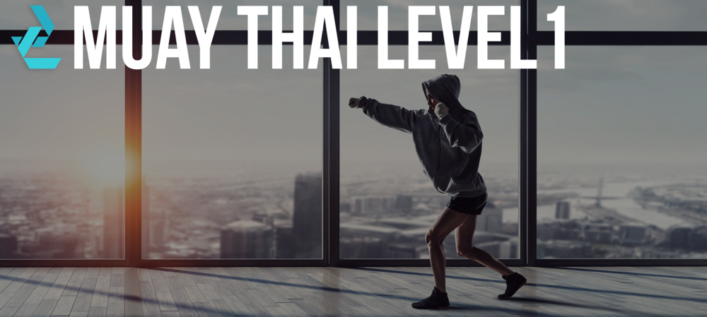 """// MUAY THAI LEVEL 1:                         Normal    0                false    false    false       EN-US    JA    X-NONE                                                                                                                                                                                                                                                                                                                                                                                                                                                                                                                                                                                                                                                                                                                                                                                                                                                                                                                                                                                                                                                                                                                                                                                                                                                                        /* Style Definitions */  table.MsoNormalTable {mso-style-name:""""Table Normal""""; mso-tstyle-rowband-size:0; mso-tstyle-colband-size:0; mso-style-noshow:yes; mso-style-priority:99; mso-style-parent:""""""""; mso-padding-alt:0in 5.4pt 0in 5.4pt; mso-para-margin:0in; mso-para-margin-bottom:.0001pt; mso-pagination:widow-orphan; font-size:12.0pt; font-family:""""Cambria"""",serif; mso-ascii-font-family:Cambria; mso-ascii-theme-font:minor-latin; mso-hansi-font-family:Cambria; mso-hansi-theme-font:minor-latin;}     Muay Thai Level 1 is an intense conditioning full-body workout. Learn Muay Thai Boxing with a combination of padwork, cardio drills and body resistance f"""