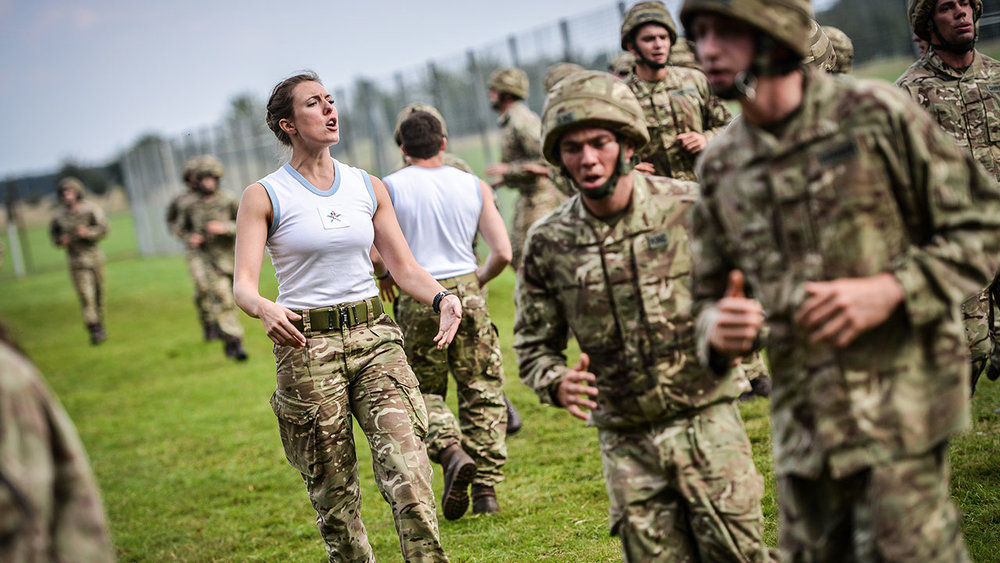 RAF SofPT Physical Training Instructor leading a session