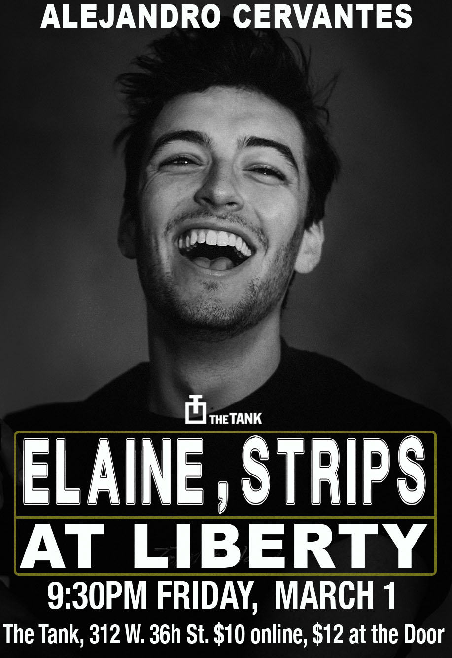 Elaine, Strips at Liberty Poster 2.jpg