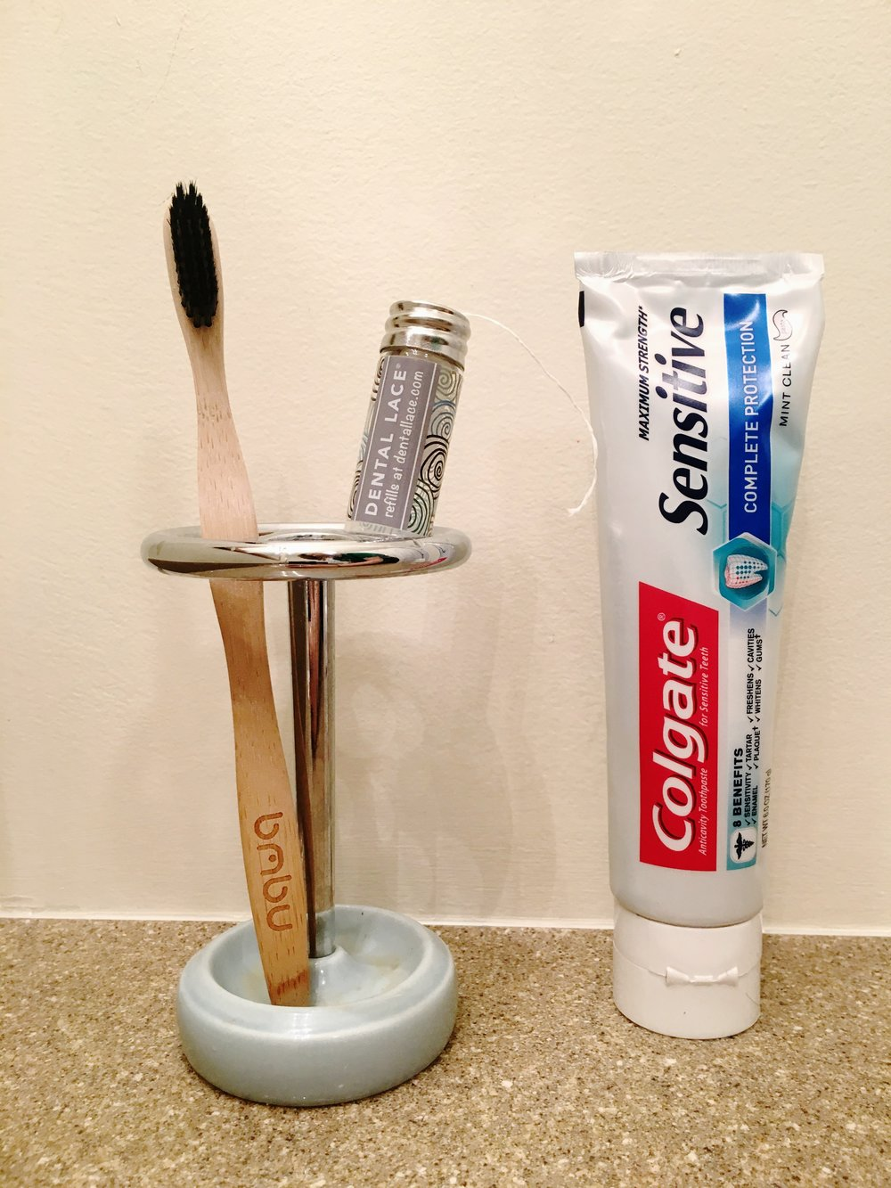 Toothpaste - You can make your own toothpaste or buy tooth powder. I won't go into that here because it's not something I can really recommend. I use Colgate toothpaste because they are partnered with Terracylce to recycle their products, even toothpaste tubes. I want to emphasize that you don't need to sacrifice things like toothpaste or medicine which can be beneficial in the long term just to reduce your waste.