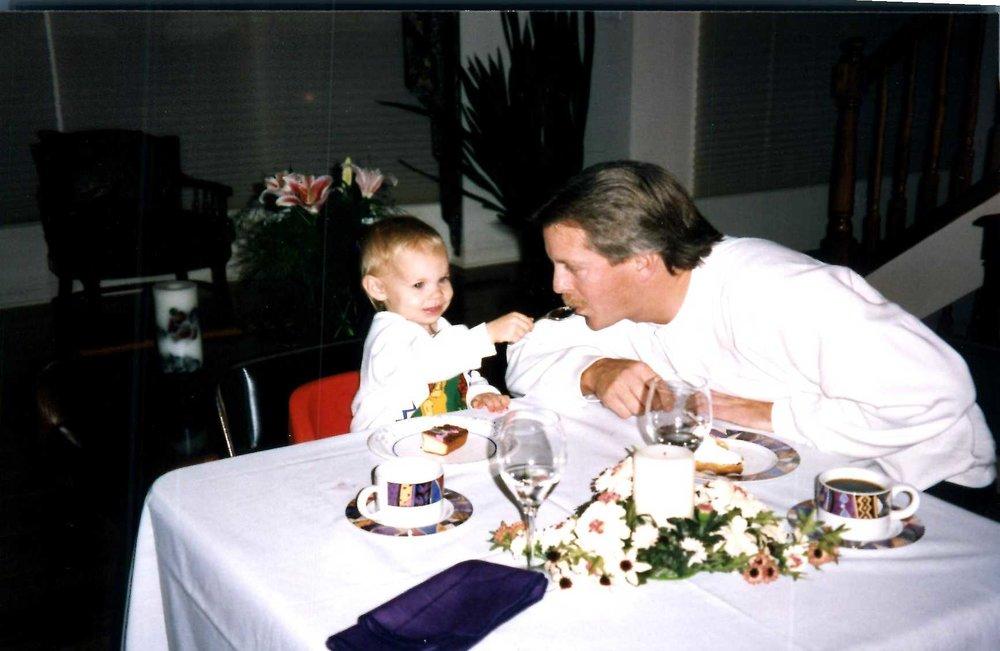 Me & My dad circa 1994