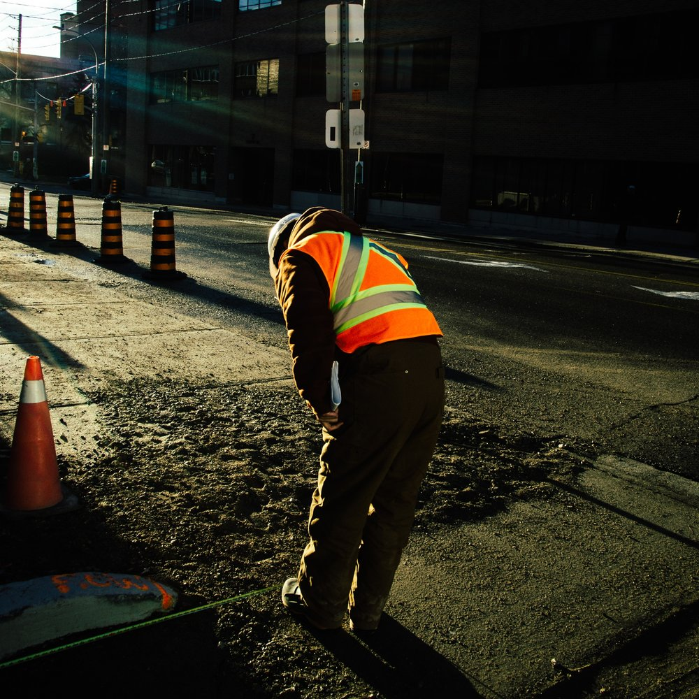 construction worker working on street