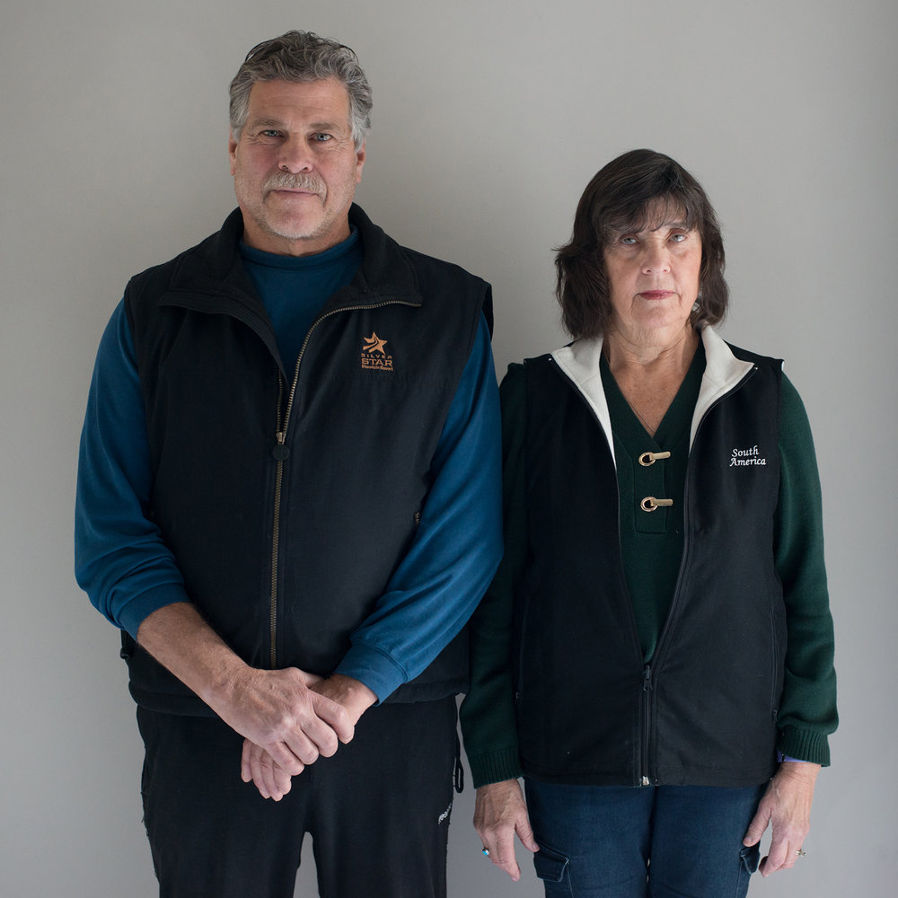 Denny and Joanne / couple, recently retired teachers / USA, Mount Vernon