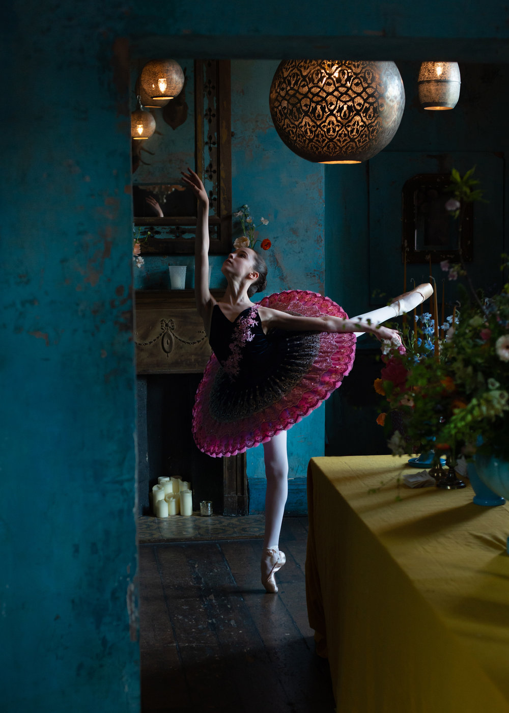 Dancer: Liberty  Tutu by Baby Bunheads  Photographer: Karolina Webb  Location : Paradise by Kensal Rise  Flowers by Scarlet & Violet