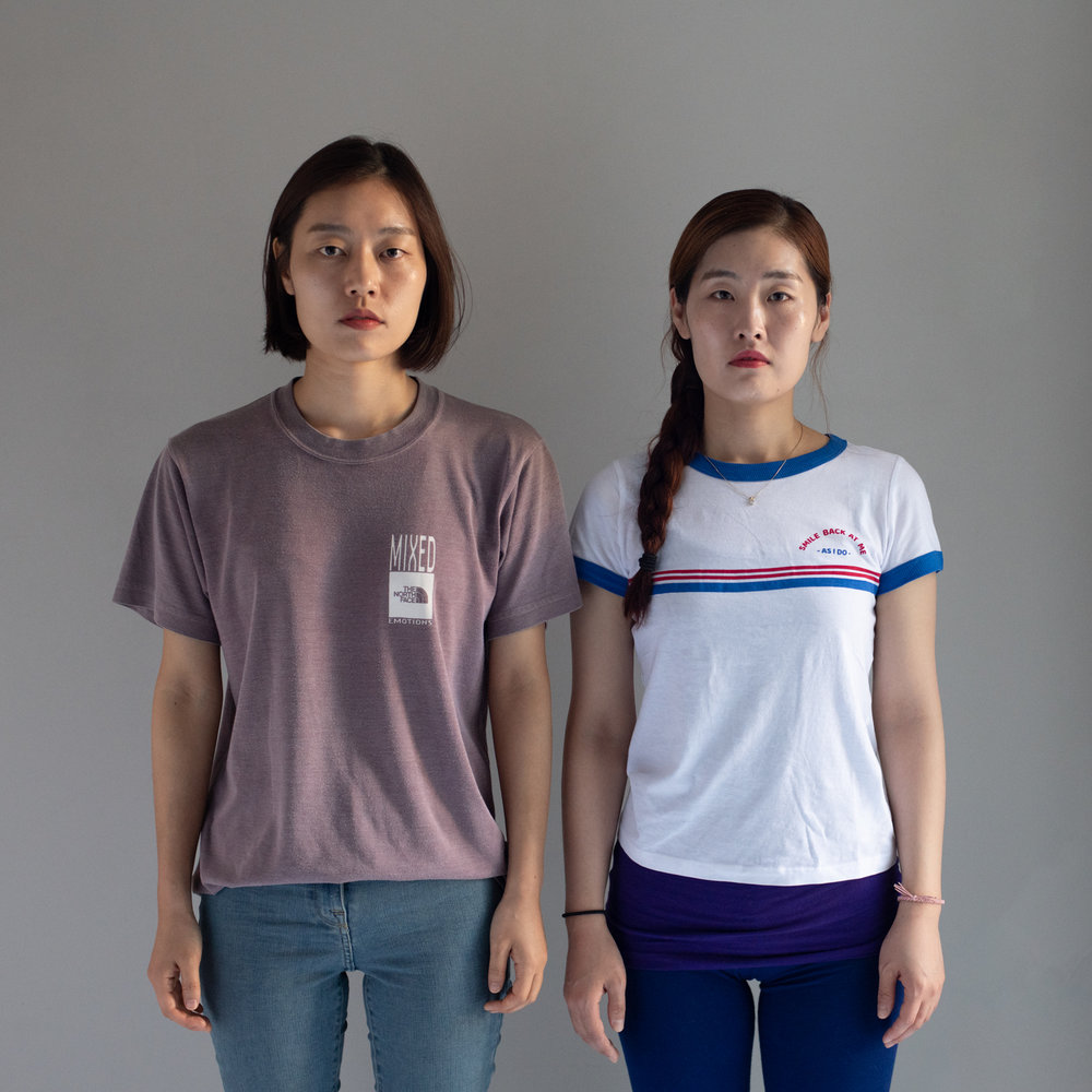 Jinny and Boreum / sisters / Seul, South Korea. Boreum moved to Canada, but they take a trip together twice a year so they can see each other.