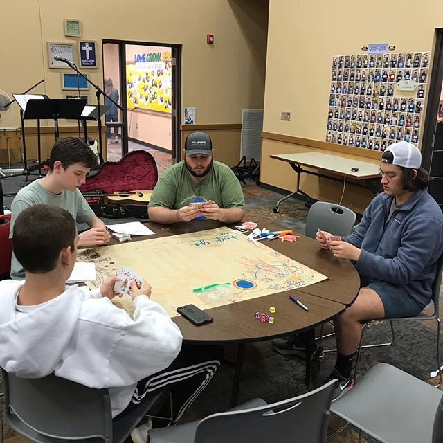 Game Night Success! Learning all of the games we love to play on our South Carolina Mission Trip!