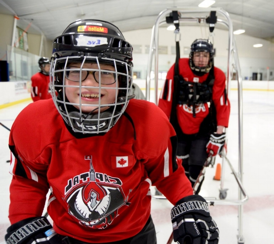 Your donation allows us to provide youth with developmental disabilities an opportunity to join a team, play hockey safely, and make friends.  -