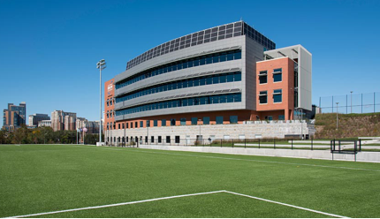 ARENEW Field at Carlyle Plaza - Alexandria Renew Enterprises in partnership with the Carlyle Plaza Development team formally delivered a fully lit, regulation-sized, multi-purpose field on the South side of Carlyle Plaza.In 2018, the Alexandria Renew building won awards in Most Innovative Projects by The American Society of Civil Engineers Architectural Engineering Institute.