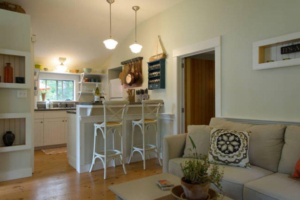 Cottage: Living Room & Kitchen