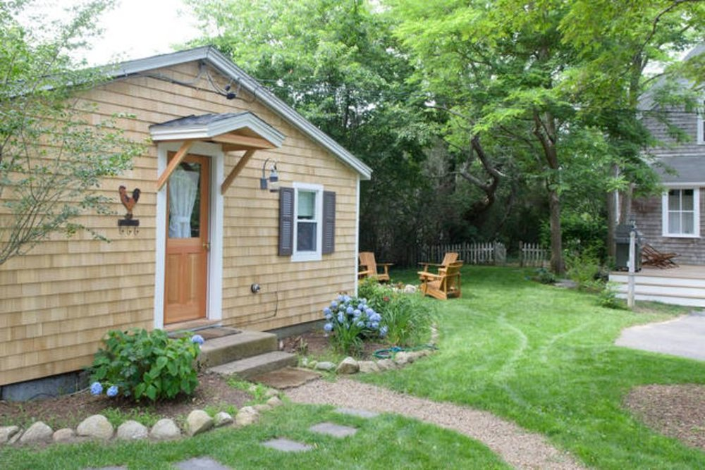 Cottage Entrance & Back Corner of Main House