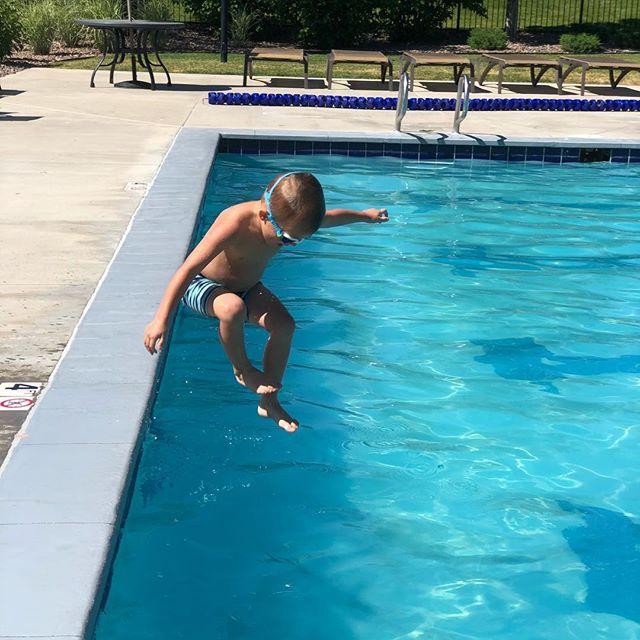 Jumping into summer like a gorilla! #summer #swimming #colorado