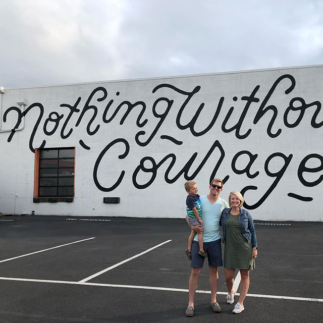 Nothing without courage. #thecrushwalls #denver