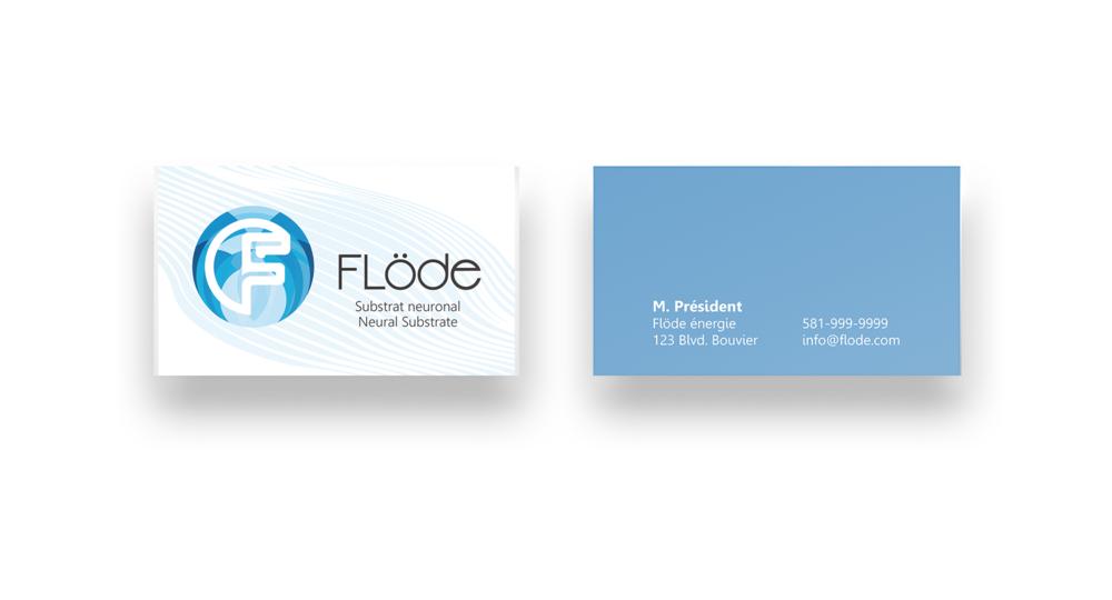 Les nouvelles cartes d'affaire de l'entreprise.