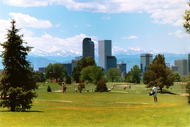 Whenever I catch a view of the Denver skyline against the mountains, I stop worrying about being lost and I start appreciating the geography.                                                                                                                                                     photo .