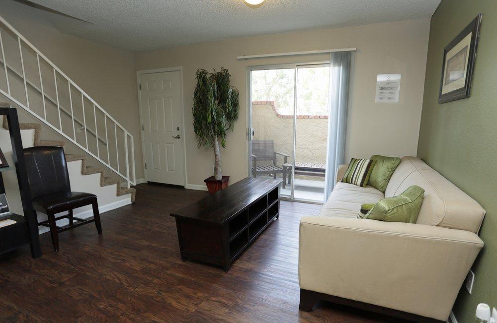 Living Room at Aventerra Apartments