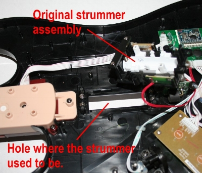 old strummer removed, but still connected